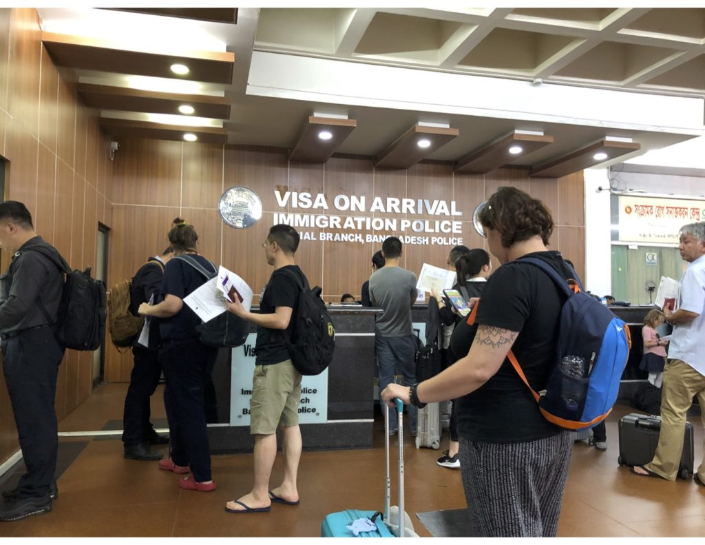 Counter for VISA on arrival